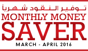 Monthly Money Saver   March - April  2016