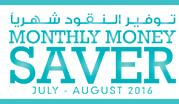 Monthly Money Saver  July - August 2016